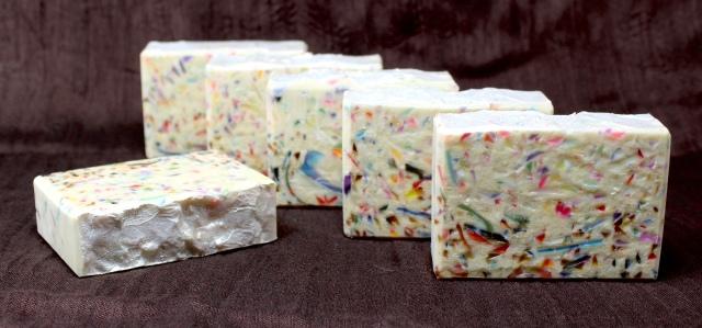 Almond Confetti Goat's Milk soap with avocado, cocoa, & shea